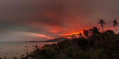 Monsoon Sunset (Jerry Fryer) Tags: kohsamui2016 coast thailand lamaibeach sea rocks palm trees 6d monsoon ef1635mmf4l