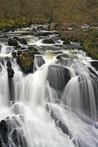 Betws-y-coed - Swallow Falls in North Wales