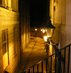 Eery Lane (martinduthie) Tags: night lights scary slow drain aberdeen alleyway lane shutter railing cobbles nightmode eery martinduthie