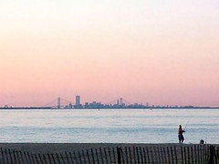 Fisherman at Dusk (FOTOGRAFIA.Nelo.Esteves) Tags: nyc newyorkcity autumn sunset usa ny newyork fall beach colors beautiful fence wow u