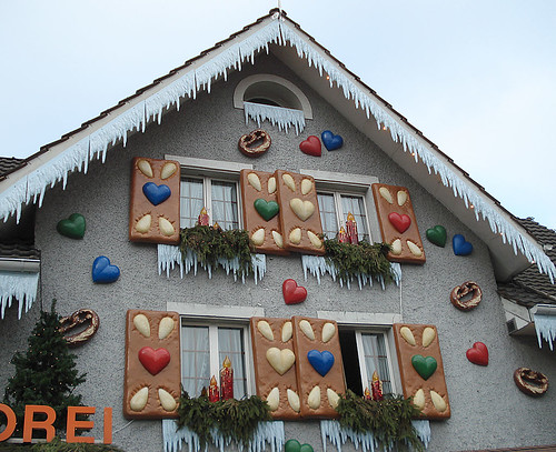 A Swiss bakery/pastry shop decked out for Christmas (2)