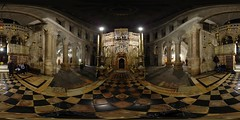 Church of the Holy Sepuchre - Tomb of Jesus - Jerusalem, Old City - 360 (Sam Rohn - 360 Photography) Tags: panorama church architecture geotagged photography israel interesting nikon arch peace d70 nikond70 availablelight palestine jerusalem columns middleeast paz panoramic medieval christian photograph pace christianity nikkor baroque churchoftheholysepulchre filmmaking stitched holyland filmproduction 360x180 oldcity qtvr 360 jesuschrist paix churchofholysepulchre 360x180 panography alquds filmlocation virtualtour locationscout equirectangular 105mmf28gfisheye filmlocations tombofjesus godslight filmscouting tombofchrist nylocations samrohn locationscouts geo:lon=35229399 geo:lat=31778499 filmscout virtiualtour