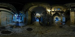 King David Street Night - Jerusalem, Old City - 360 (Sam Rohn - 360 Photography) Tags: street travel blue panorama black night geotagged photography israel photo interesting nikon closed arch peace exterior d70 nikond70 availablelight palestine jerusalem gray middleeast paz location panoramic photograph pace judaism nikkor filmmaking stitched holyland filmproduction 360x180 oldcity qtvr scouting 360 paix islamicarchitecture 360x180 panography alquds filmlocation locationscouting virtualtour locationscout equirectangular 105mmf28gfisheye filmlocations rohn muslimarchitecture filmscouting nylocations samrohn realvizstitcher locationscouts geo:lat=31776702 geo:lon=35229217 virtualjerusalem filmscout virtiualtour