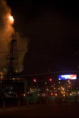Freedom (metroblossom) Tags: building indiana americanflag oil southside bp refinery whiting oilrefinery img3030jpg britishpetroleumoil northwesternindiana
