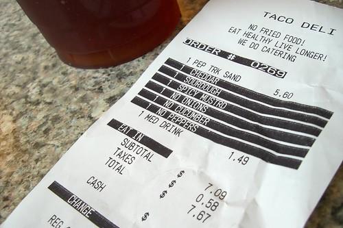taco deli receipt