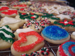 Brightly Colored Christmas Cookies