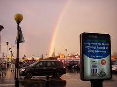 Tesco Sign and Rainbow - by Denni Schnapp