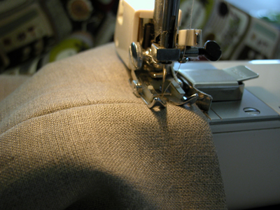 10. Fold Top Edge and Sew