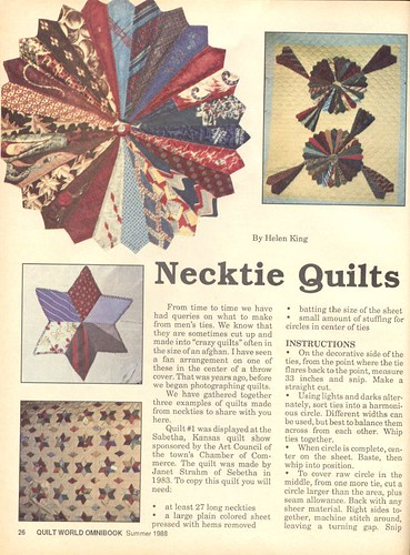 More necktie quilts