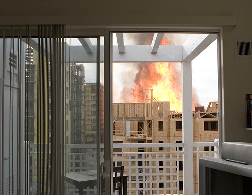 Rivermark construction fire from my condo