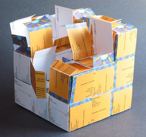 Business Card Cube Gift Box \(mangled\)