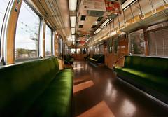 Empty train, Japan (The Other Martin Tenbones) Tags: japan train empty fisheye osaka kansai hdr hankyu hankyuu hankyutrain kitasenri