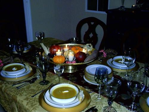formal fall dinner table setting