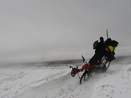 Flying ice and gale force winds on Ilgatargi Pass (2,400m), Turkey
