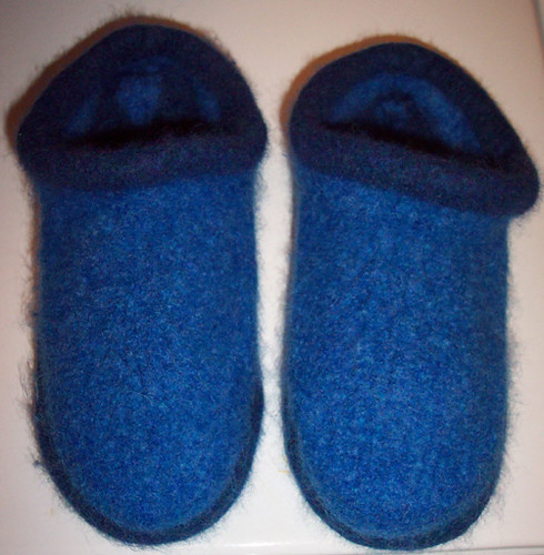 Fulled slippers