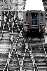 BW Man in the Train (riclane) Tags: blackandwhite bw toronto cn train nikon traintracks tracks d80 nikonstunninggallery 1on1photooftheday impressedbeauty potwkkc21