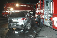 Firefighter Struck By Vehicle While Rendering Aid. Photo by Mike Meadows. Click to view more...