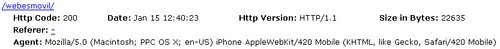 Mozilla/5.0 (Macintosh; PPC OS X; en-US) iPhone AppleWebKit/420 Mobile (KHTML, like Gecko, Safari/420 Mobile)