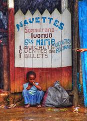 Girl wayting the boat at Soanerana in the east coast, Madagascar (Gaston Batistini) Tags: beautiful manipulated perfect post picture greatshot madagascar photoshoped batistini