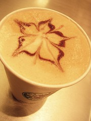 Latte Art - Five Point Flower