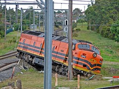 Off the Rails (aussiegall) Tags: train accident traintracks tracks railway derailed