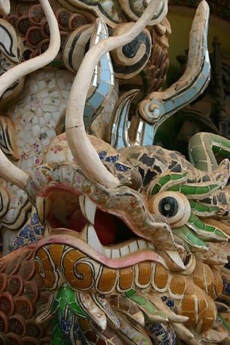 Ornamentations. Linh Phuoc Pagoda, Trai Mat Village.
