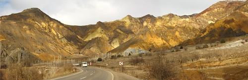 Orange hills near Susheri, Turkey