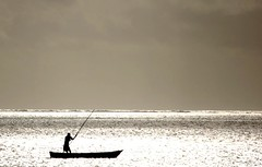 Lonely Fisherman (Explored) (EricK_1968) Tags: africa sea mer water silhouette boot grey mar fisherman meer solitude barca mare barco kenya explore solo soledad bateau pcheur pesca sola navegando fischer pescador pescatore solido seul s einsam pche solitudine wow1 sozinho fischen isole allein    250v10f navigante superaplus  lonelyfisherman  naviguant lpwater2 erick1968 mygearandme mygearandmepremium mygearandmebronze mygearandmesilver mygearandmegold    segelndeinsamkeit flickrstruereflection1 flickrstruereflection2