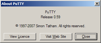 PuTTY 0.59 Release