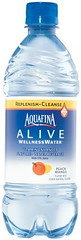 Bottle of Aquafina Alive
