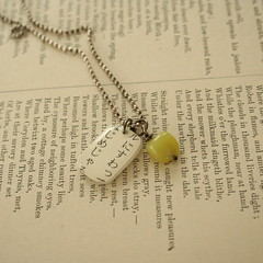 charmed necklace in tender green (thefoundling) Tags: necklace charmed foundling