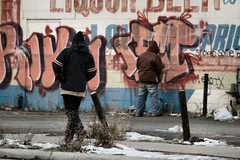 Off the Wall (TooLoose-LeTrek) Tags: pee public detroit piss urinate tinkle