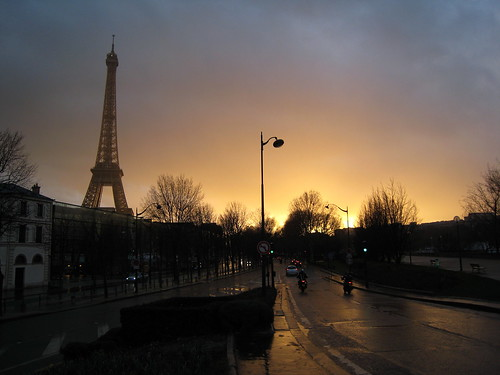 The Eiffel Tower just after a shower