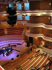 A picture of the stage from our seats on the high ledge. (01/05/07)