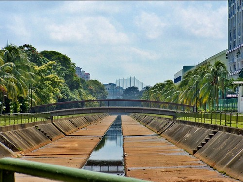 Kallang River as canal, before