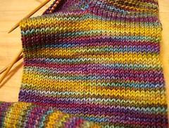 Mardi Gras socks closeup