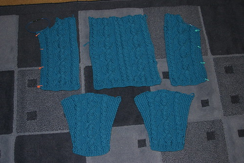 front, back and sleeves done!