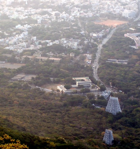 View from the top of tirumala hill