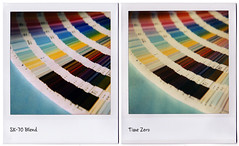 Polaroid SX-70 Blend vs. Time Zero Film (tubes.) Tags: polaroid sx70 interestingness archives sidebyside timezero comparrison sx70blend