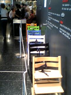 Stokke Tripp Trapp high chairs at MoMA's cafe