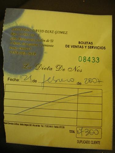 boleta chilena