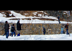 Snowball war in Iran