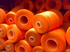 Spools (FJ!!) Tags: orange thread spools neon sewing harsh slickrframe