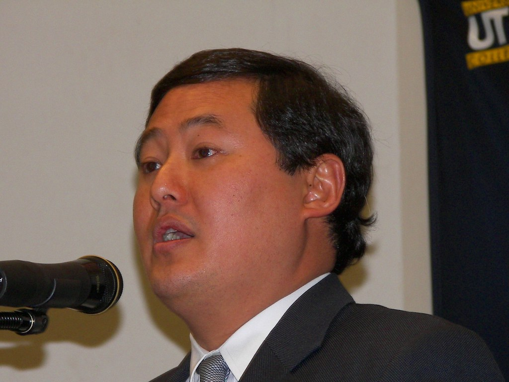 Legal scholar John Yoo, architect of the Patriot Act, in Toledo Ohio