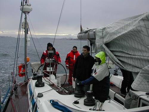 Hansa Meeskond Hispaania ranniku lähedal.