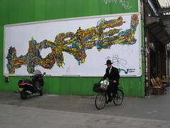 Horph (tofz4u) Tags: streetart paris pasteup bicycle collage billboard lemur mur vlo affiche artderue 75011 horf