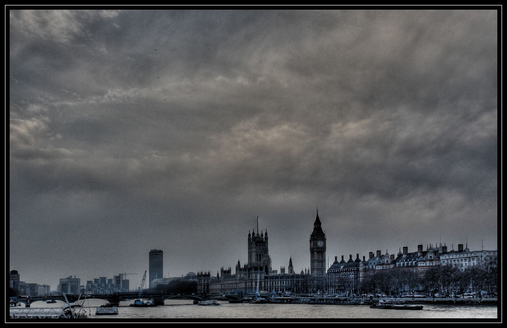 London westminster themse 4 hdr tone mapped rahmen
