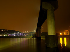 Dark and Stormy Night at the Big Dam Bridge