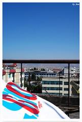 go to sky (swallowtail) Tags: china blue roof sky words back friend hometown go nike tt yunnan baoshan