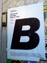 poster in the city of Amsterdam: A:Event (Posters in Amsterdam by Jarr Geerligs) Tags: city blackandwhite gabriel amsterdam poster design graphic character posters type letter svoboda jarr largeletter geerligs aevent wwwpostersinamsterdamcom postersinamsterdam 222page03